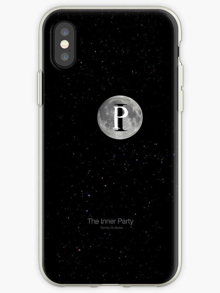 The Inner Party - Moon Logo iPhone Cover by BurningCity