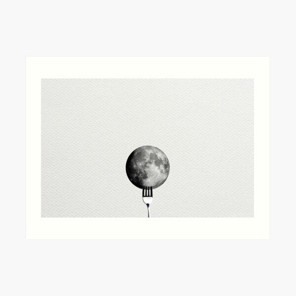 Moon and Fork Art Print