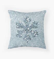 Cojín Copo de nieve de Aquamarine Faux Glitter