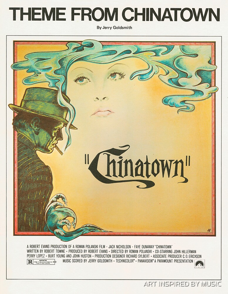 THEME FROM CHINATOWN (vintage illustration) by ART INSPIRED BY MUSIC
