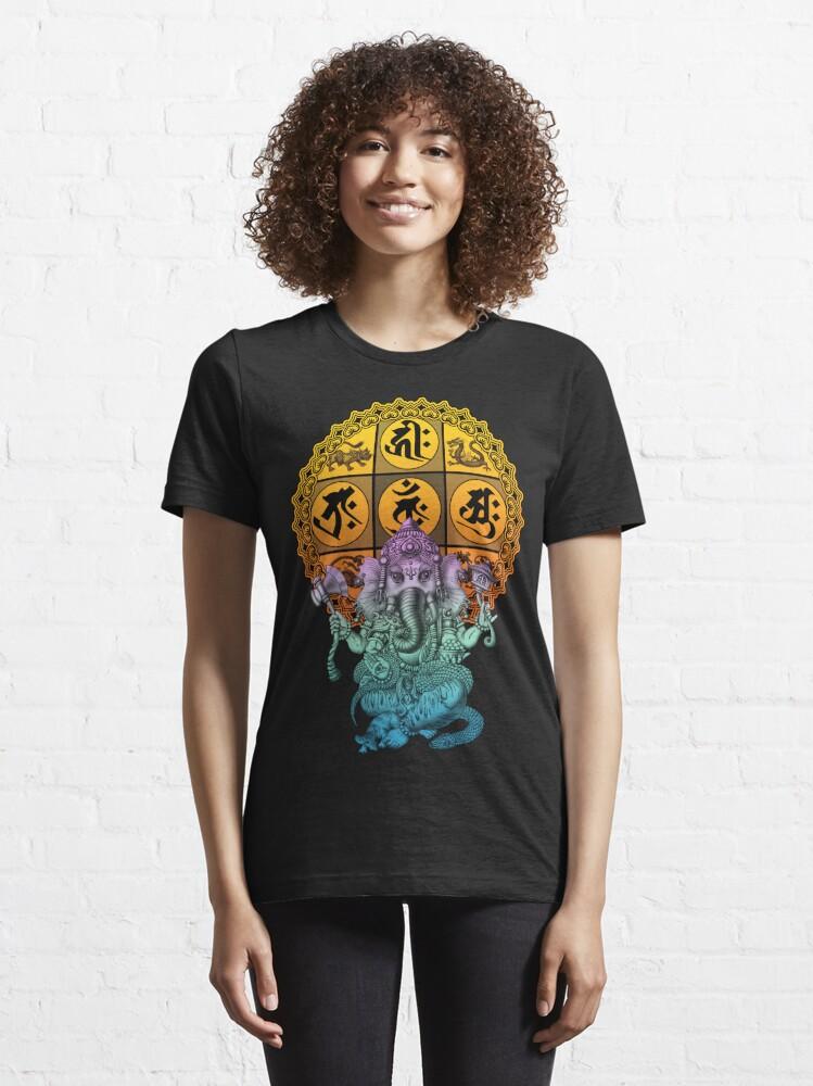 Alternate view of Ganesha Diamond Realm Essential T-Shirt