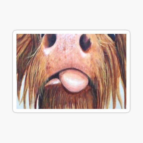 Highland Cow Lover Face Mask Sticker