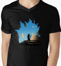 Fus Ro DOS! Mens V-Neck T-Shirt