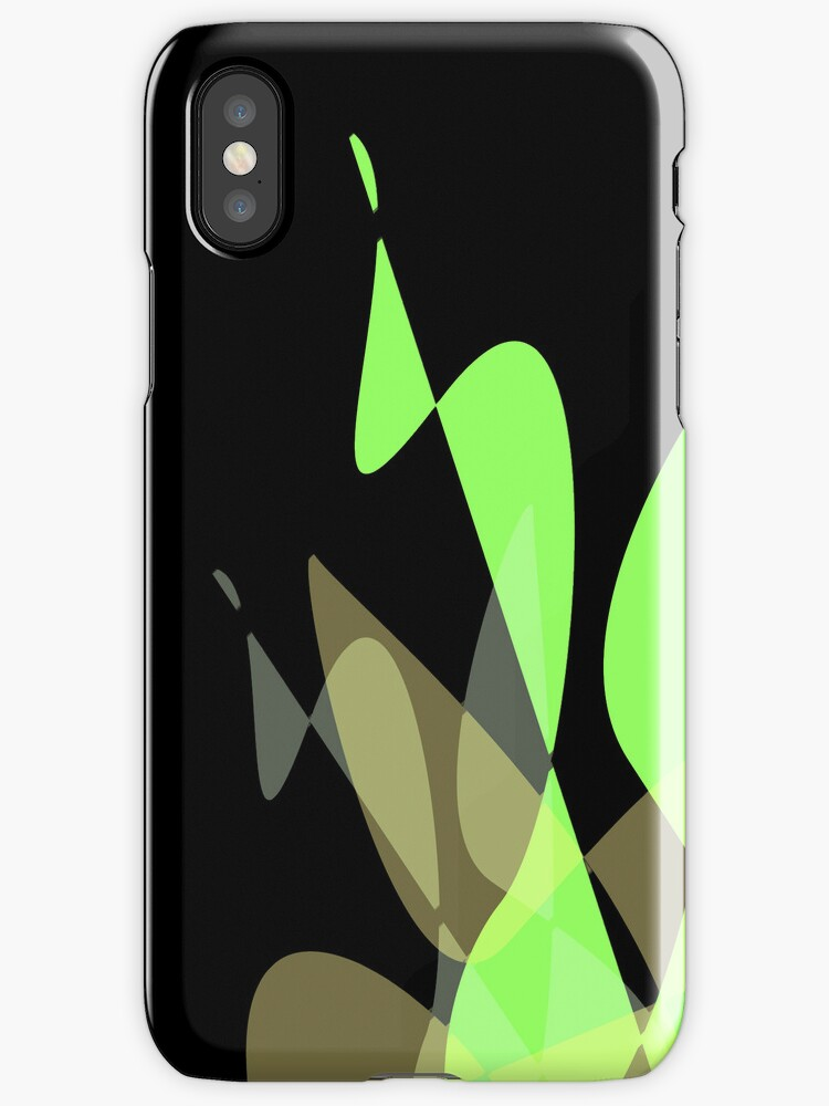 Green & Black Graphic iPhone/iPod & iPad by GJPart