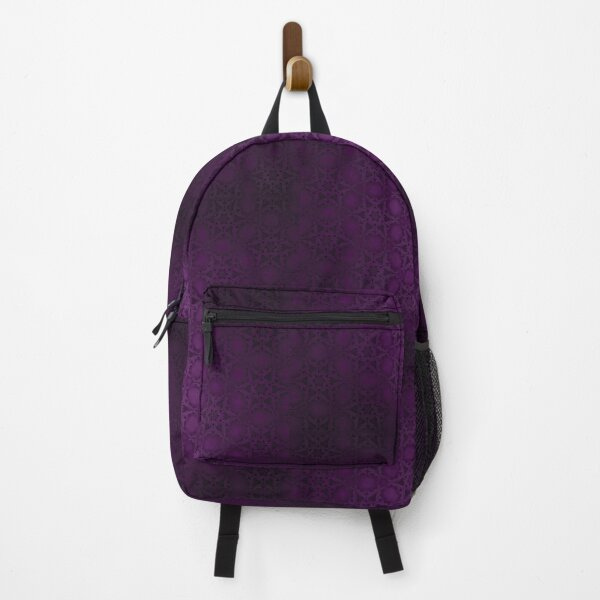 Purple gothic patterns texture Backpack