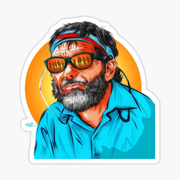 Sam Peckinpah - An illustration by Paul Cemmick Sticker