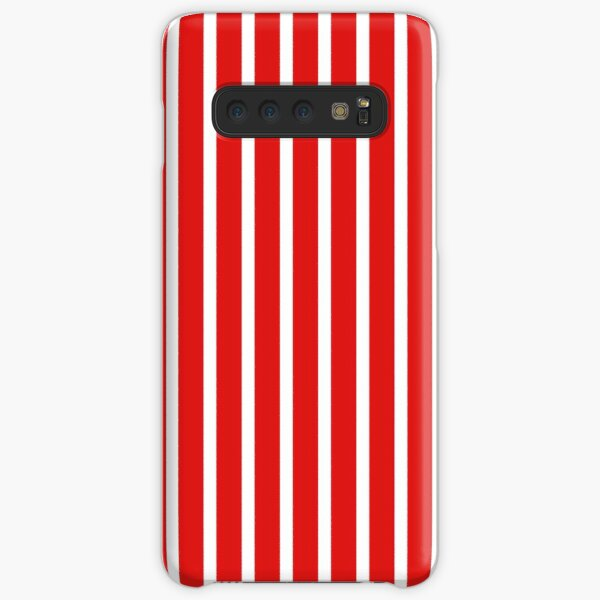 IU Candy Stripes! Crimson and Cream, Red and white striped Samsung Galaxy Snap Case