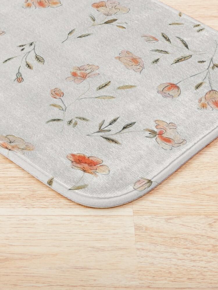 Alternate view of Watercolor Floral Pattern Bath Mat