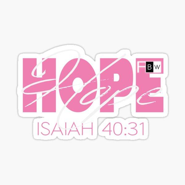 Hope Isaish 40:31 Sticker
