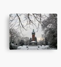 Carillon Tower in The Snow Canvas Print