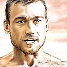 Andy Whitfield miniature by wu-wei