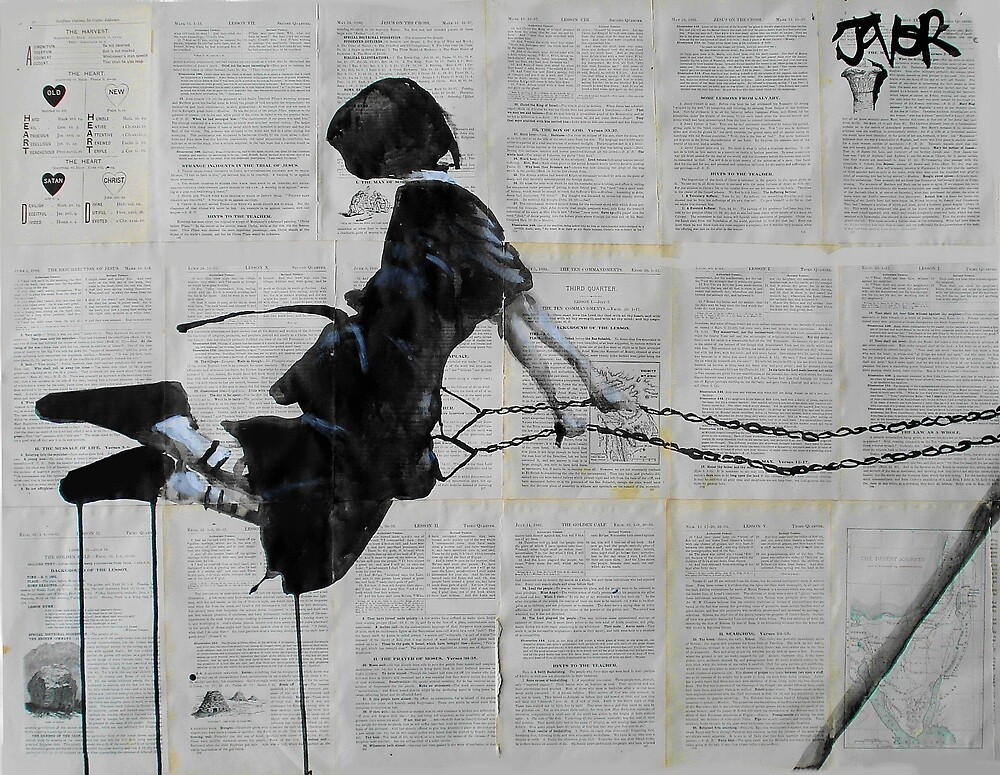 ruth (study of an amish girl on a swing) by Loui  Jover