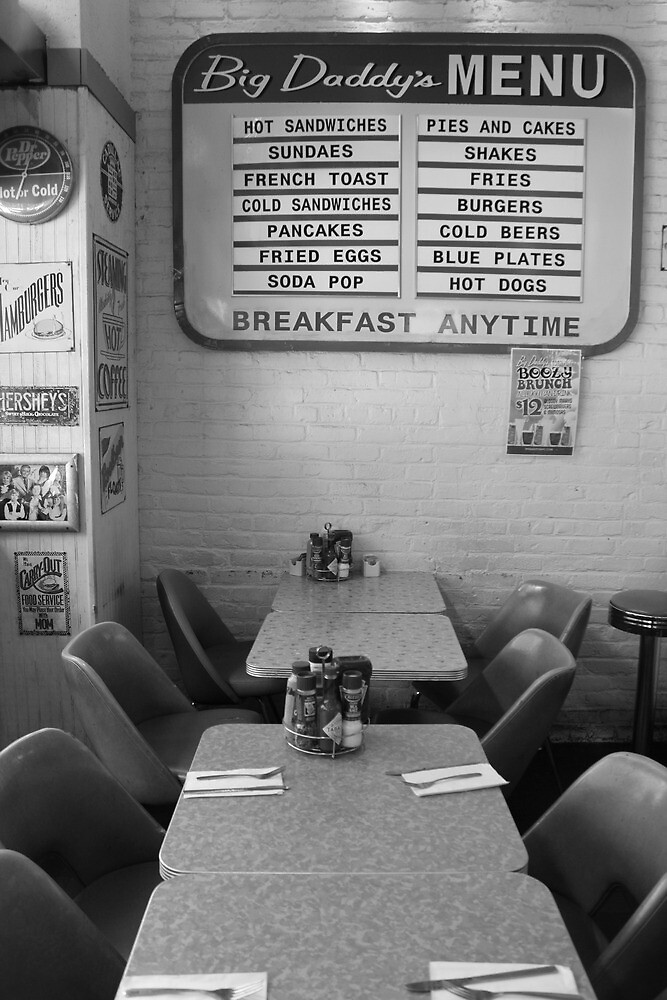 Lunchtime crowd, Big Daddy's Diner, NYC by Rachael Mullins