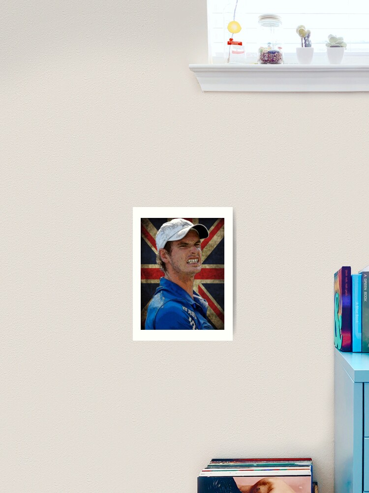ANDY MURRAY TENNIS THE UK FLAG PICTURE PRINT ON FRAMED CANVAS WALL ART