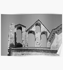 Church roof, near Arles, France Poster