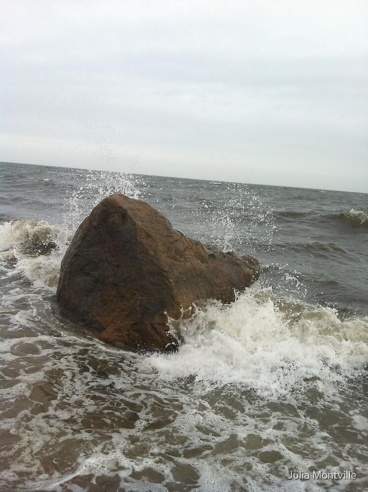 Stormy Beach by Julia Montville