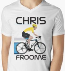 Chris Froome Yellow Jersey Mens V-Neck T-Shirt