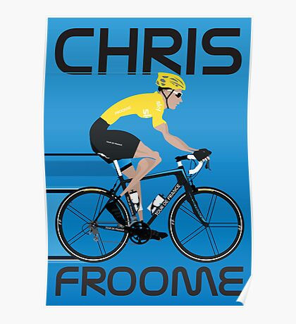 Chris Froome Yellow Jersey Poster