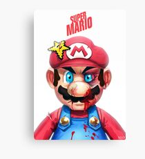 Beat Up Mario Canvas Print