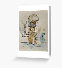 Mec-Penguin Greeting Card
