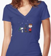 A Charlie Brown Christmas Women's Fitted V-Neck T-Shirt