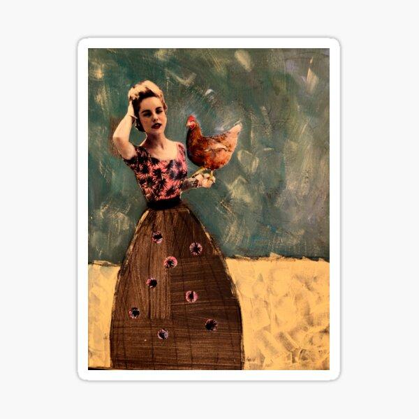 dear little hen of mine Sticker