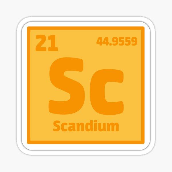 Element Scandium Sticker Sticker