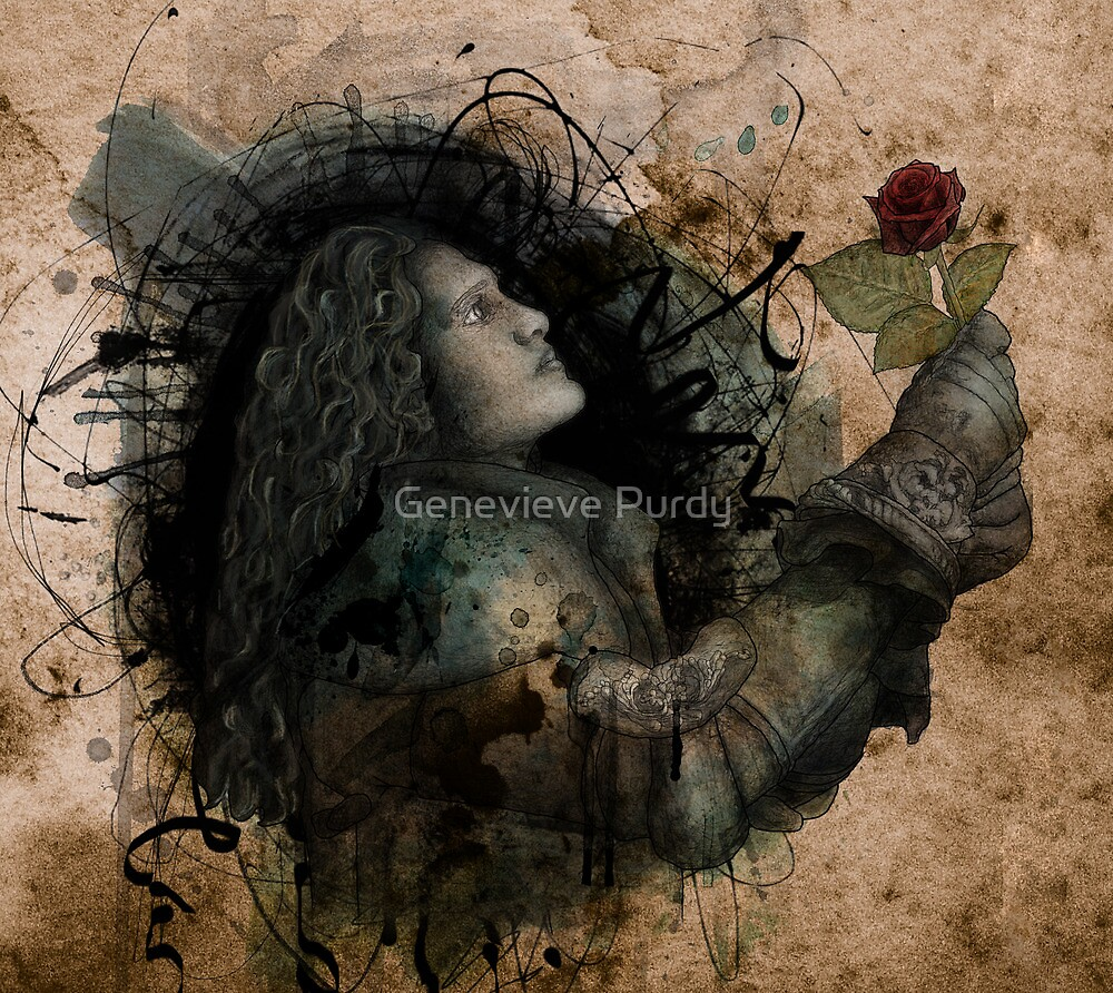 Knight of the Rose Grunge by Genevieve Purdy