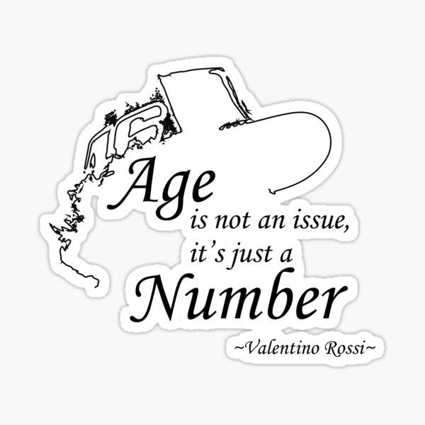 Es solo el número. Pegatina