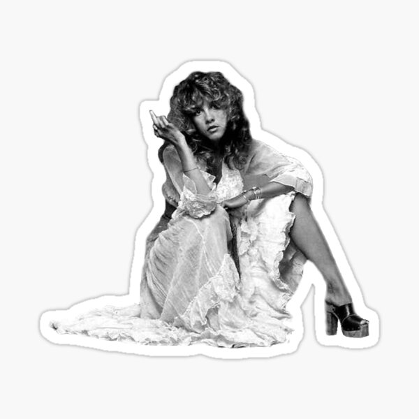 Stevie Nicks Middle Finger Photo (IMPROVED QUALITY) Sticker