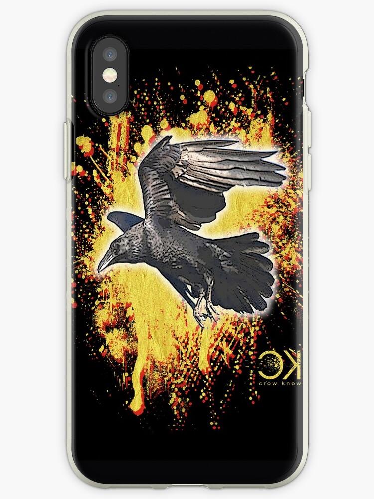 crow in flight by redboy