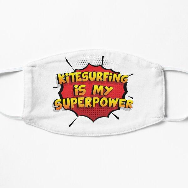 Kitesurfing ist mein Superpower Lustiges Kitesurfing Designgeschenk Flache Maske