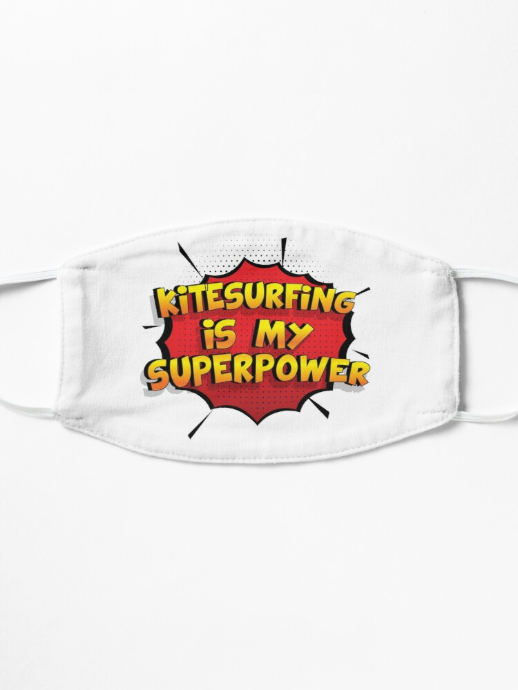 Alternative Ansicht von Kitesurfing ist mein Superpower Lustiges Kitesurfing Designgeschenk Maske