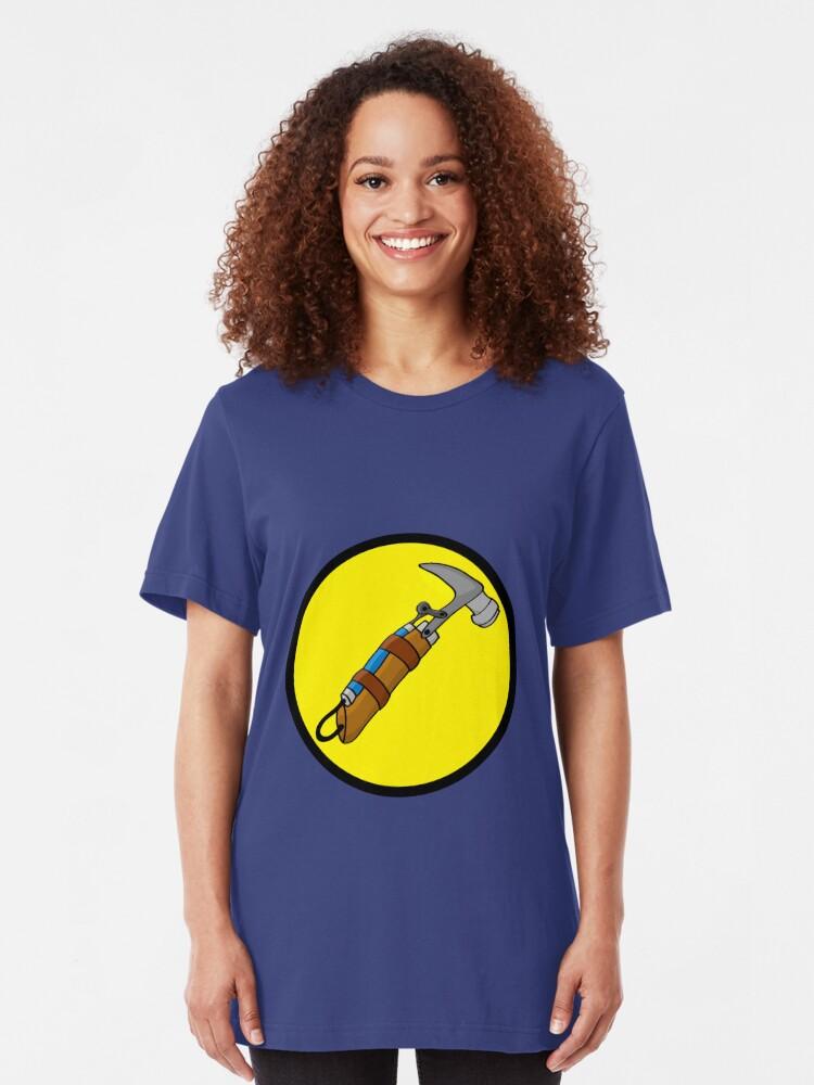 Alternate view of Captain Auto Hammer's Logo Slim Fit T-Shirt