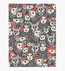 sweater mice coral red Photographic Print
