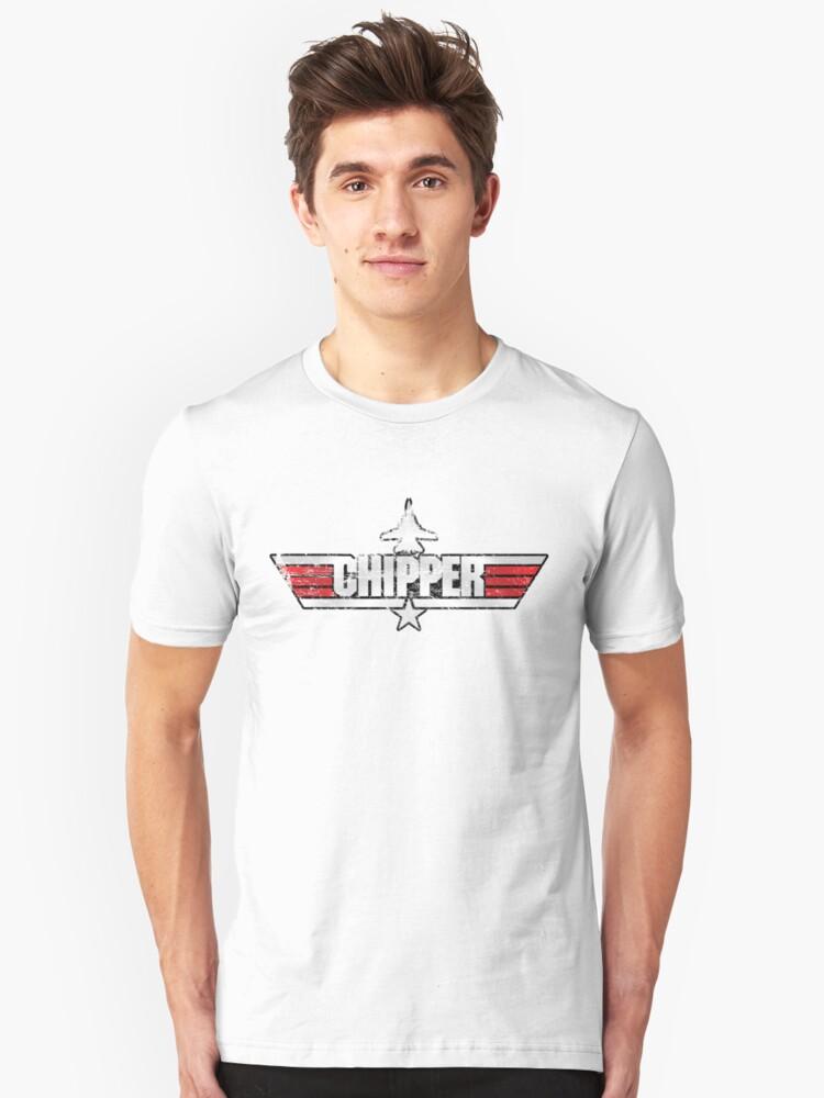 Custom Top Gun Style - Chipper Unisex T-Shirt Front