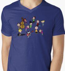 A Charlie Brown Christmas Dance Men's V-Neck T-Shirt