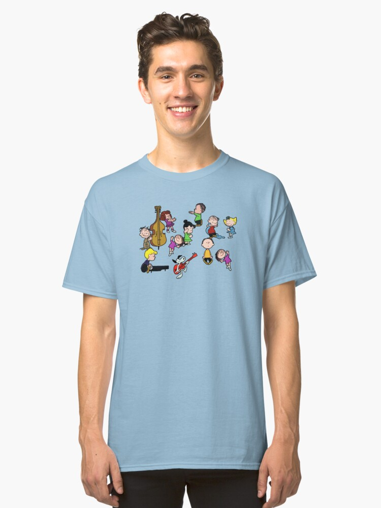 a charlie brown christmas dance classic t shirt front