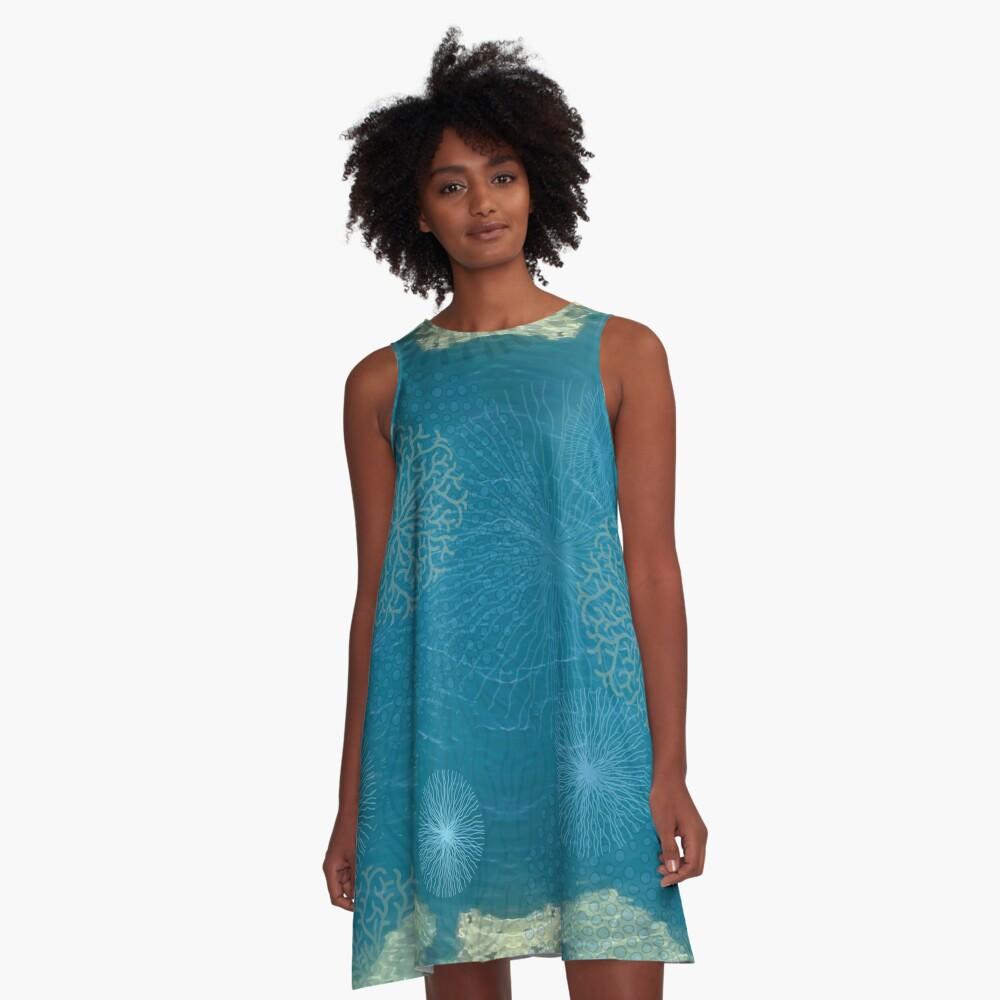 Seaworld - kaltes, klares Wasser A-Linien Kleid