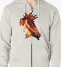 Typholsion used inferno Zipped Hoodie