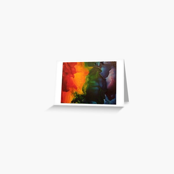 Color Painting Greeting Card