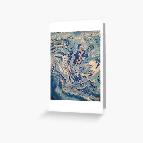 Ocean Wishy Washy Painting Greeting Card