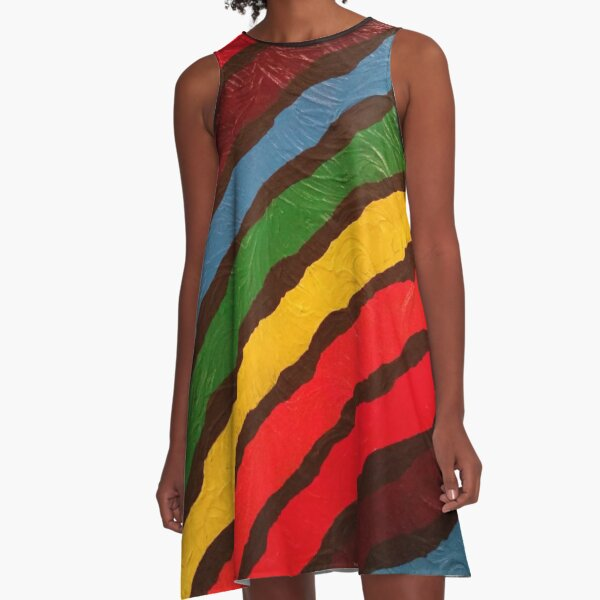 The Power of Expression Painting A-Line Dress