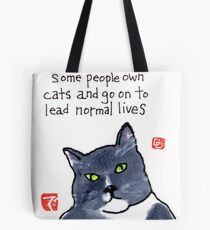 Life with a Cat Tote Bag