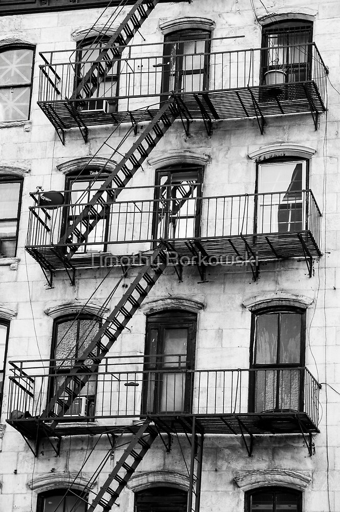 Chinatown Fire Escape  by Timothy Borkowski