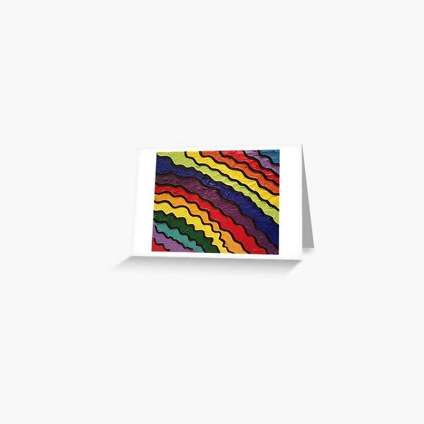 Rainbow Happiness Painting Greeting Card