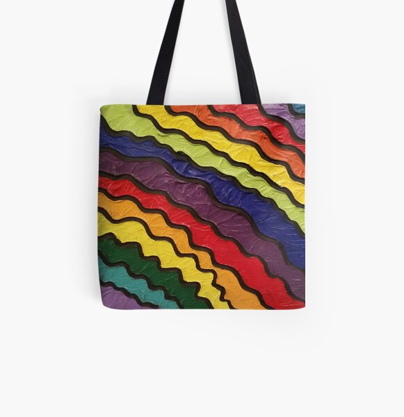 Rainbow Happiness Painting All Over Print Tote Bag