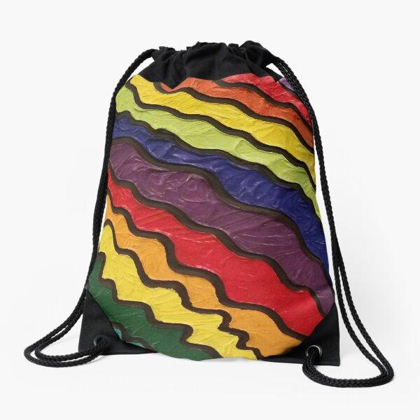Rainbow Happiness Painting Drawstring Bag
