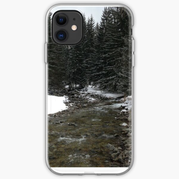 Snowy Poland River iPhone Soft Case