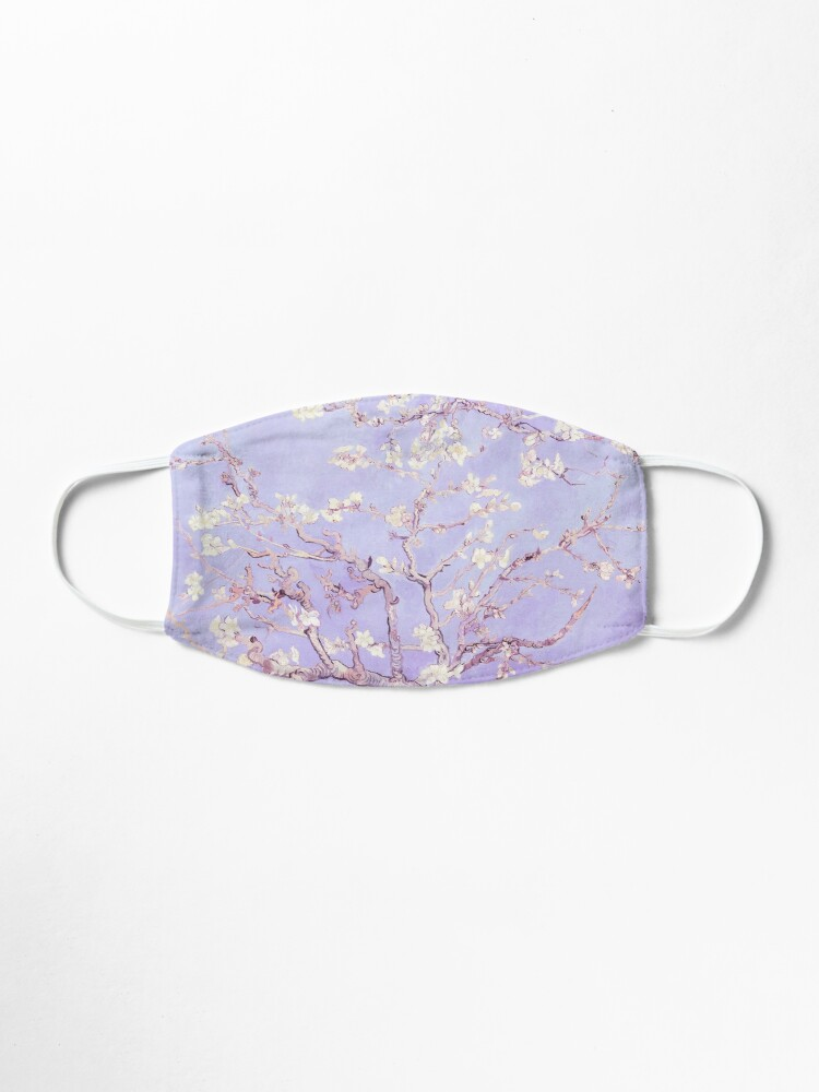 Alternate view of Vincent Van Gogh almond blossoms lavender Mask